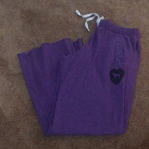Victoria's Secret PINK sweatpants purple Medium